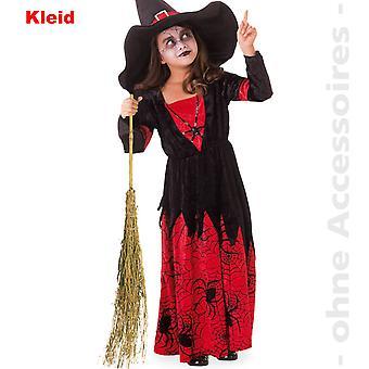 Hexe Kostüm Kids Spinnenmädchen Zauberin Halloween Kinderkostüm