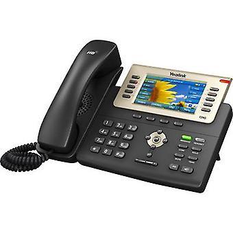 Yealink SIP-T29G bedrade VoIP Headset aansluiting, hands free kleuren TFT/LCD zwart