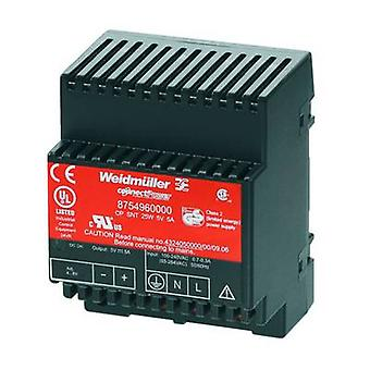 Weidmüller CP SNT 25W 5V 5A Rail mounted PSU (DIN) 5 Vdc 5 A 25 W 1 x