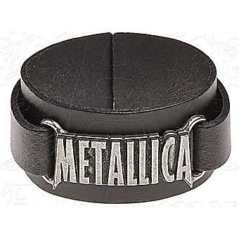 Pulsera de cuero Metallica Logo