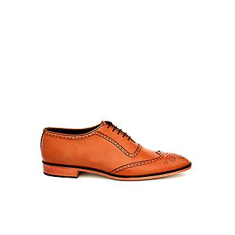 Handcrafted Premium Leather Blythe Brown Oxford Shoe
