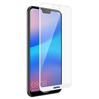 9H herdet glass skjermbeskytter for Huawei P20 Lite, farget kanter - hvit