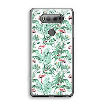 LG V20 transparant Case (Soft) - Flamingo bladeren