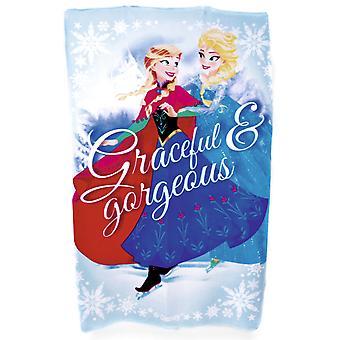 New Girls Disney Frozen Official 100% Polyester Cartoon Printed Fleece Blanket