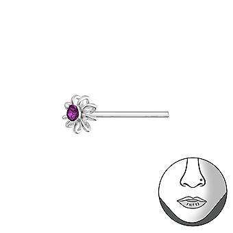 Bloem - 925 Sterling Zilver neus Studs - W37468X