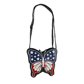 Sleepyville beestjes Americana vlag Butterfly Crossbody portemonnee