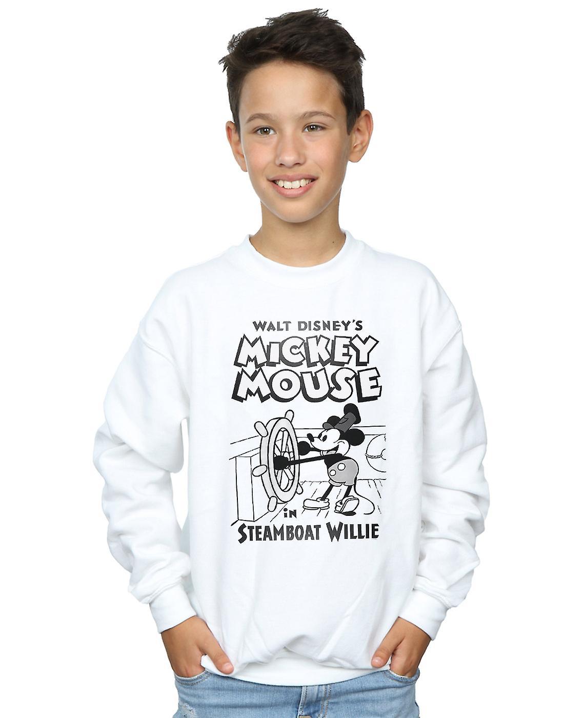 Disney Boys Mickey Mouse Steamboat Willie Sweatshirt