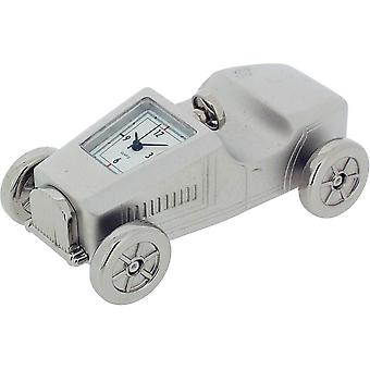 Gift Time Products Vintage Race Car Miniature Clock - Silver