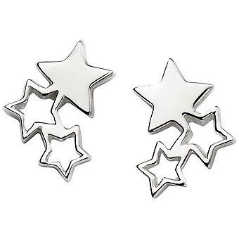 Alkaa kolmen tähden korvakorut - Silver
