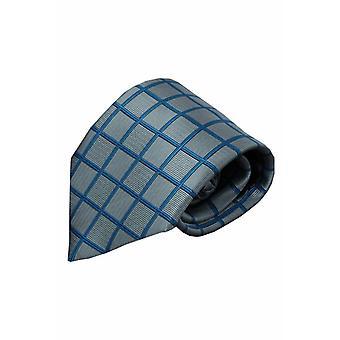 Grijze zijden stropdas Enego 01