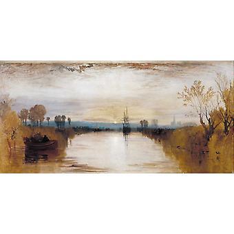 Chichester Canal, Joseph Mallord William Turner, 80x40cm