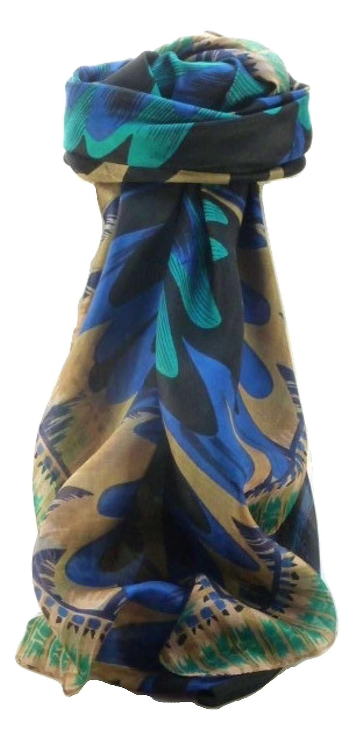 Mulberry Silk Contemporary Square Scarf Abstract A313 by Pashmina & Silk