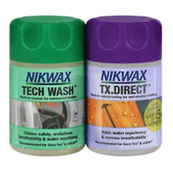 Nikwax Tech Wash/TX Direkte ren og bevis twin pack