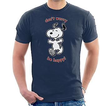 Snoopy Dont Worry Be Happy Men's T-Shirt