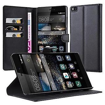 המקרה cadorabo עבור Huawei P8 MAX מקרה כיסוי במקרה הטלפון עם אבזם מגנטי, לעמוד בתפקוד וכרטיס תא – מקרה כיסוי מגן מקרה מקרה הספר סגנון קיפול