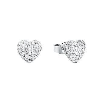 s.Oliver jewel ladies earrings silver heart cubic zirconia 2024211