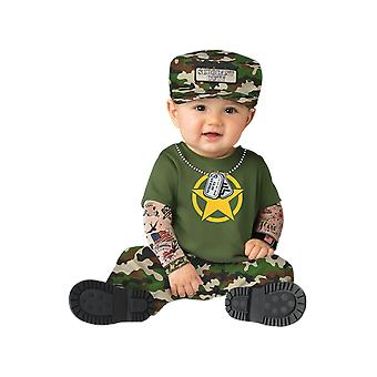 Baby Age 0 - 24 Months Army Soldier Costume Toddler Uniform Fancy Dress