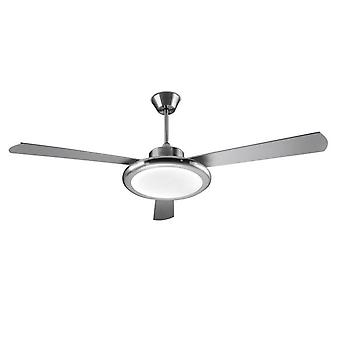 Bahia Satin Nickel LED allumée ventilateur de plafond - Leds-C4 30-5676-81-M1