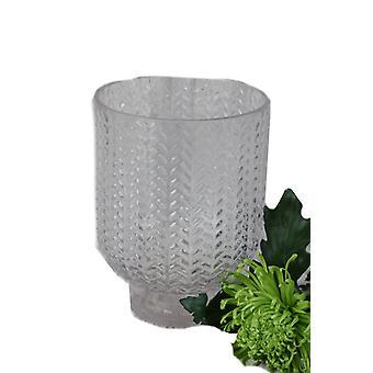 Vase mønstret glass 24 cm