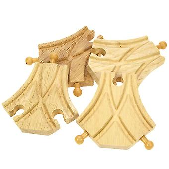Bigjigs Wooden Railway Curved Turnouts x 4