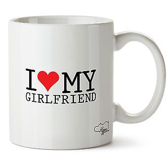 Hippowarehouse I Love My Girlfriend 10oz Mug Cup