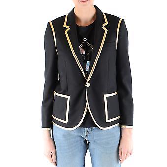 Saint Laurent Ezbc022023 Women's Black Wool Blazer