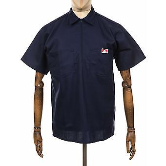 Ben Davis S/s Half Zip työ paita-Navy