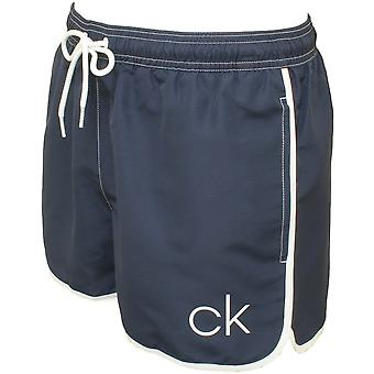 Calvin Klein CK Athletic-Cut Swim Shorts, Navy