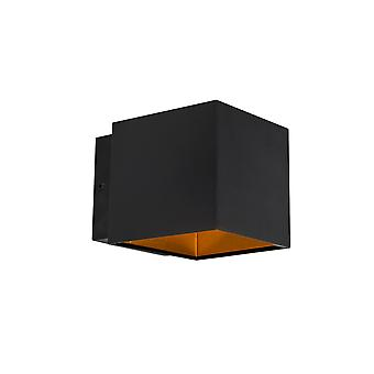 Lámpara de pared QAZQA Design negro / oro incl. LED - Caja