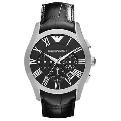 Emporio Armani Ar1633 Classic Black Face Leather Strap Watch