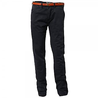 Scotch & Soda Slim-Fit Chino Pant avec ceinture en cuir, Night 32