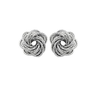 Eternal Collection Connections Circular Links Silver Tone Stud Pierced Earrings