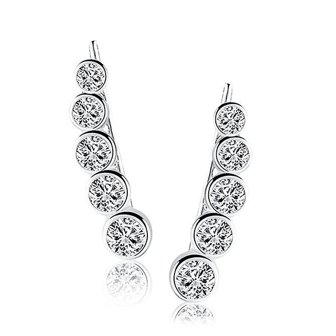 925 Sterling Silver Climber Earrings
