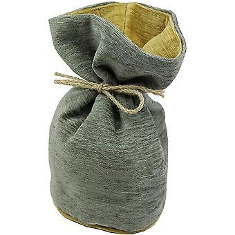 McAlister Textiles van de Grey Chenille grijs + gele Deurstop