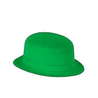 Зеленые бархатные котелок