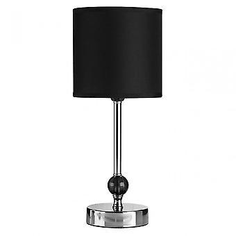 Premier Home Table Lamp, Chromed Fabric, Black