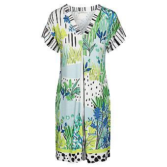 Féraud 3195323-16526 Women's Voyage Sealeaves Blue Kaftan Beach Dress