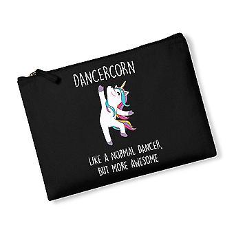 Sistercorn Unicorn Black Canvas Accessory Bag