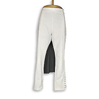 Susan Graver Leggings Premium Stretch Weiß A300538