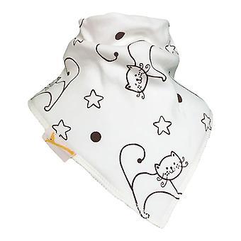 Chats de crème et bavoir de bandana d'étoiles