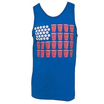 American Flag Beer Pong Tank Top