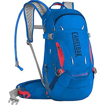 CamelBak L.U.X.E. LR Hydration Pack - Unisex-Adult Backpack - Carve Blue/Fiery Coral - M
