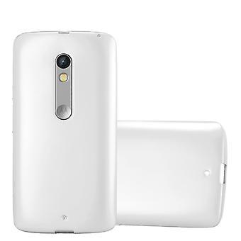 Cadorabo fallet för Motorola MOTO X PLAY Case Cover-mobiltelefon fall tillverkad av flexibla TPU Silikon-silikonfodral skyddande fodral Ultra Slim soft tillbaka täcker fallet stötfångare