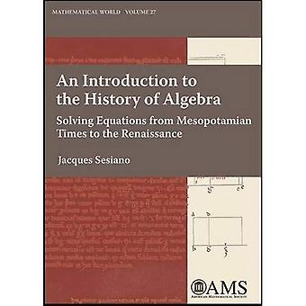 An Introduction to the History of Algebra: Solving Equations from Mesopotamian Times to the Renaissance (Mathematical World)