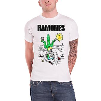Ramones T Shirt Loco Live band logo vintage new Official Mens White