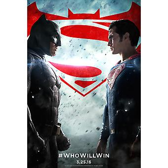 Batman V Superman Dawn Of Justice Original Movie Poster Double Sided Regular Style