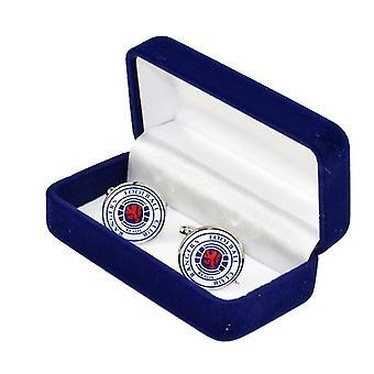 Rangers FC Mens Official Metal Football Crest Cufflinks