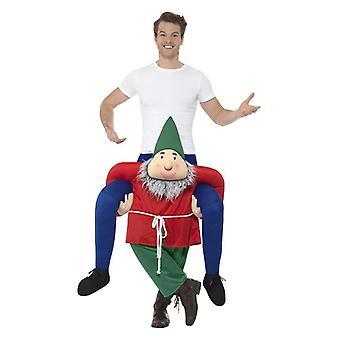 Mens Piggyback Gnome Fancy Dress Costume