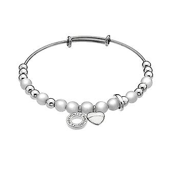 Emozioni Silver Plated Faux Mother Of Pearl Bangle EB011
