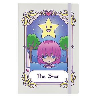 Deadly Tarot Kawaii The Star A5 Hard Cover Notebook